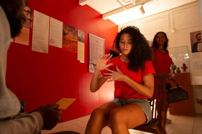 Lore - Musée cultures Guyanaises, Cayenne photo © Ronan Liétar / imazone avec Anne-Flore de Rochambeau